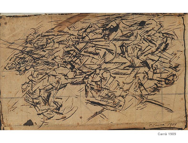 CARLO CARRA',COMPOSIZIONE, 1909