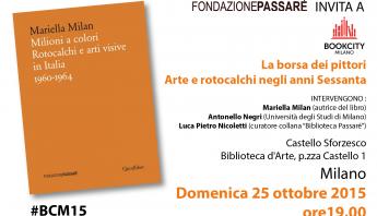 Book city 2015, invito, Milioni a colori, Fondazione Passaré, Biblioteca Passaré